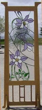 Custom Made Columbine Standing Screen