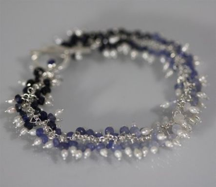 Custom Made Waterfall B'Let (Sapphire, Pearls)
