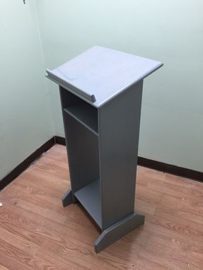 Custom Made Solid Wood Custom Made Gray Stand Up Lectern Podium/Shtender