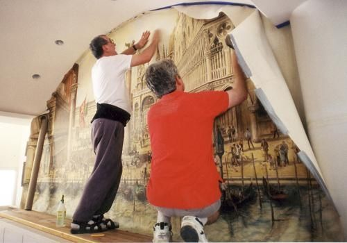 Custom Made Winery Mural - San Marco Piazzeta, Venice, Italy