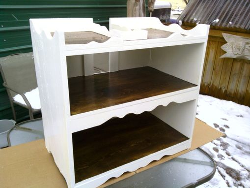 Custom Made White Wooden Kitchen Bookcase