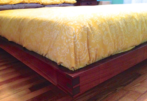 Custom Made Walnut Natural Edge Bed