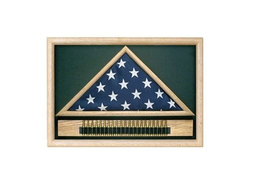 Custom Made Memorial Flag Case With Cartridge Belt