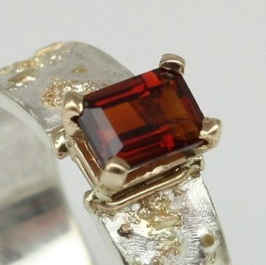 Custom Made 18k Gold And Sterling Silver Ring With A Madeira Citrine Gemstone