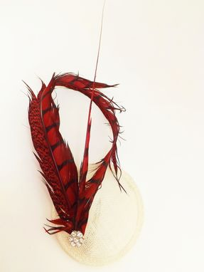 Custom Made Lady Amherst Tail Feather Fascinator, Womens Headpiece