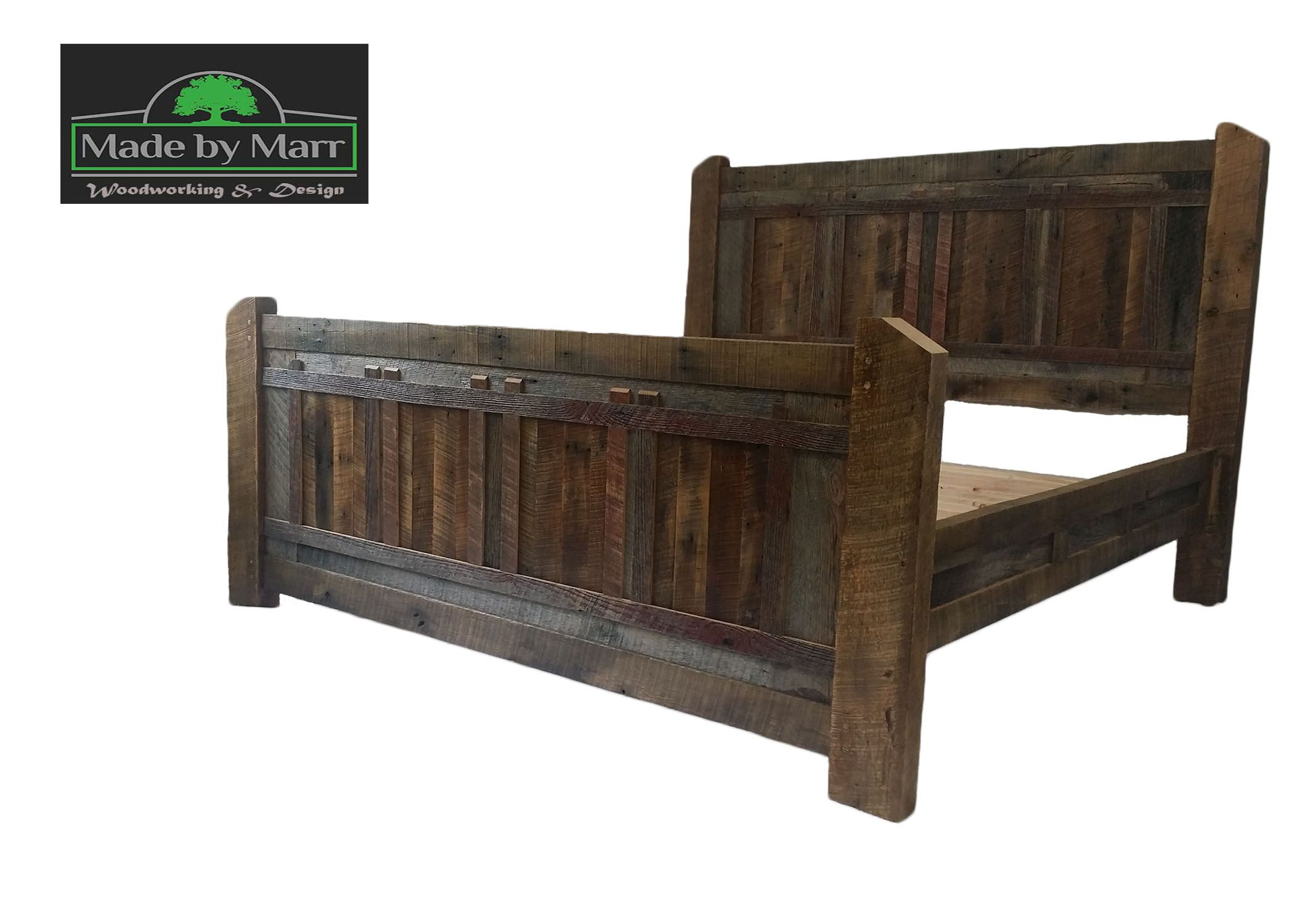 Custom Made Rustic Reclaimed Barnwood King Bed