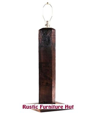 Custom Made Rustic Reclaimed Wood Floor Or Table Lamps By Rustic Furniture Hut