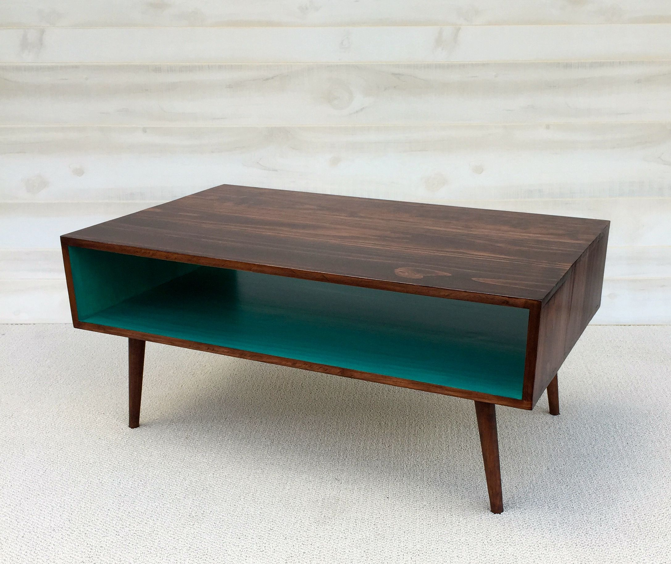 A Hand Made The Slim Mid Century Modern Coffee Table