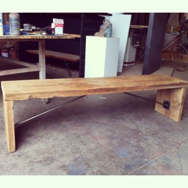 Custom Made Barn Wood Bench