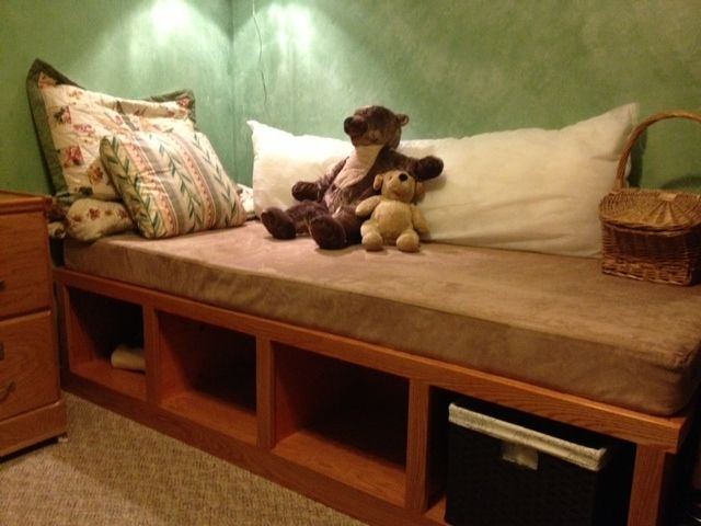Custom Made Day Bed With Basket Storage