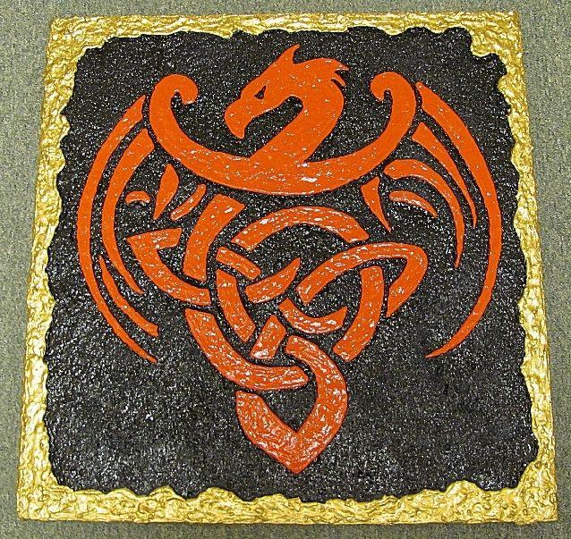 Celtic Wall Art custom made celtic dragon 3d wall art3d photo framing & design