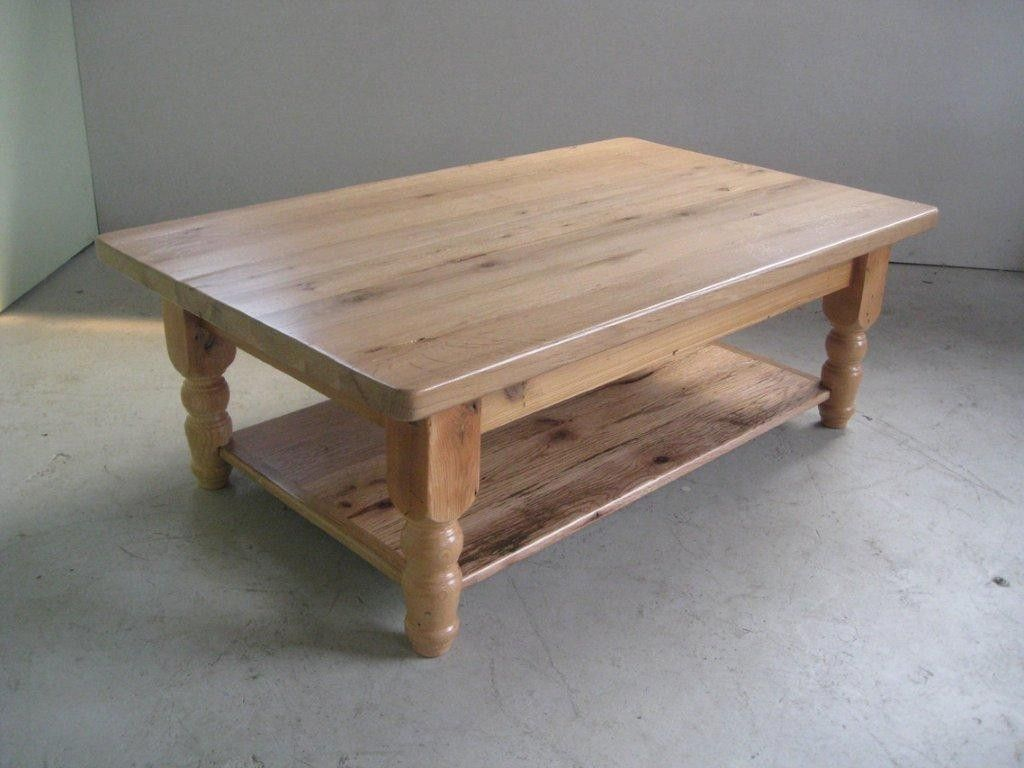 Custom Made Oak Coffee Table With Clear Finish