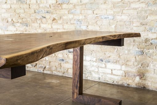 Custom Made Walnut Live Edge Executive Desk