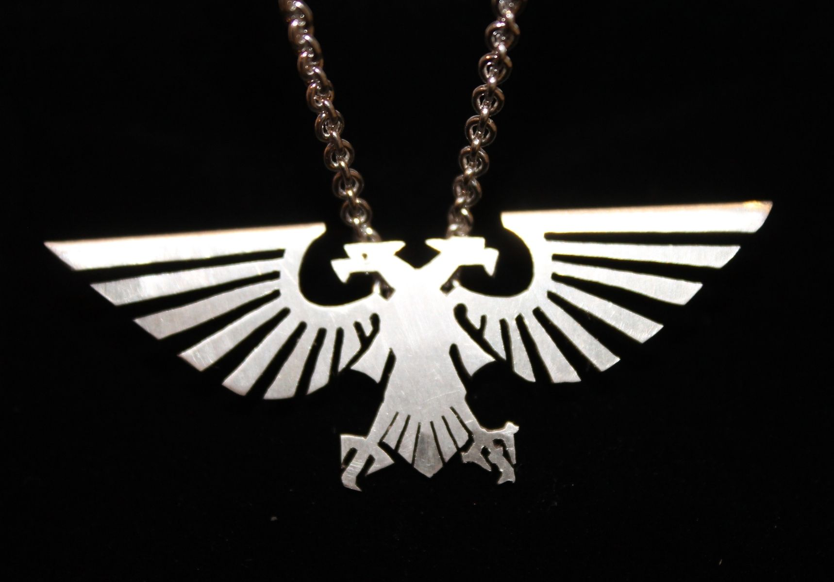 gold eagle man amazon plated dp hawk brave pendant necklaces com american necklace