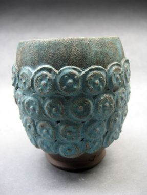 Custom Made Turquoise Coin Teabowl
