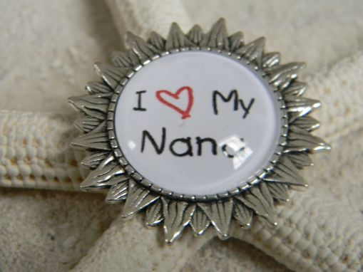 Custom Made Customized Silver Plated Sunflower Brooch/Pin