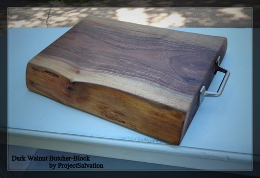 Custom Made Live Edge Butcher Block / Reclaimed Wood Cutting Board