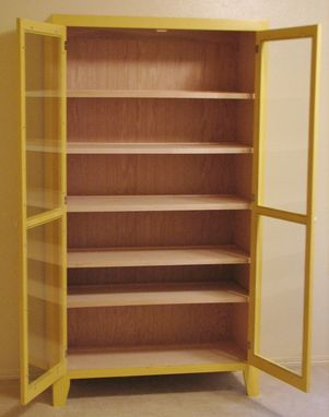 Custom Made Yellow China Cabinet