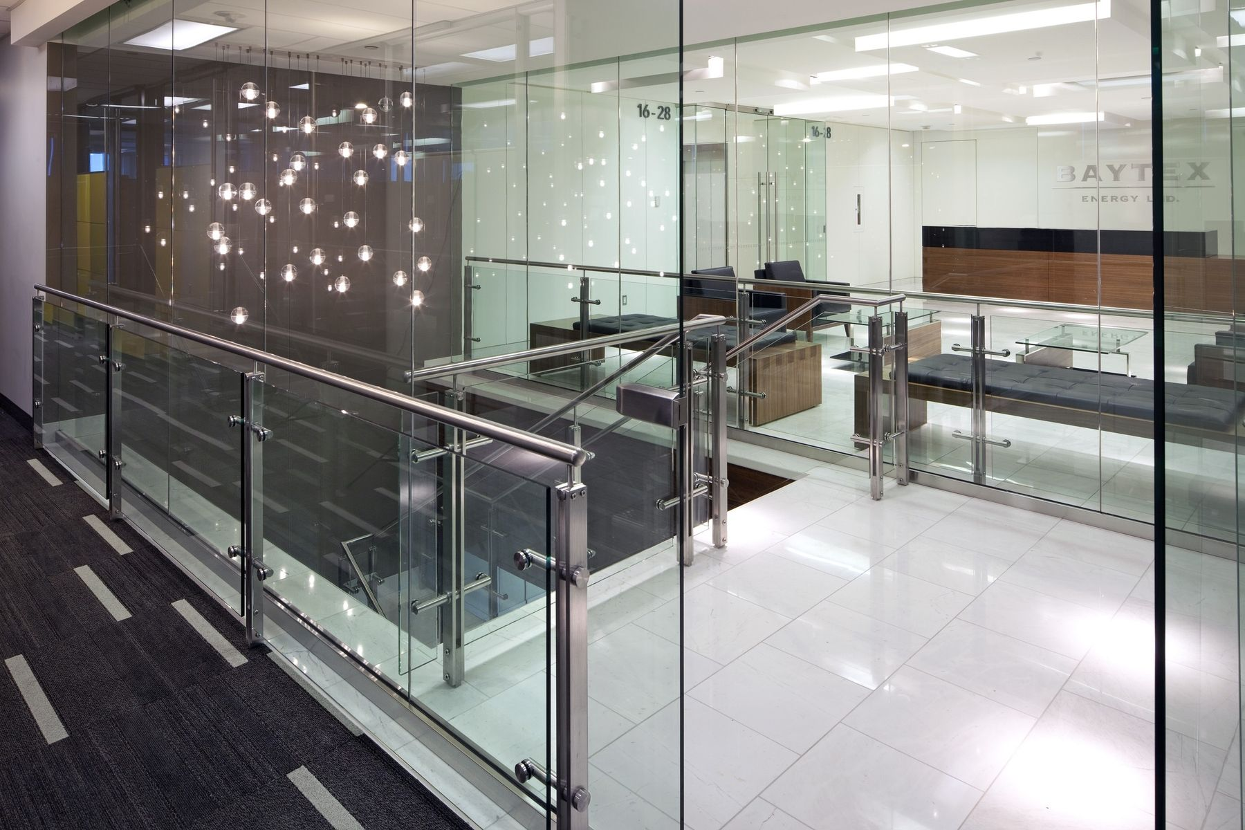 Hand Made Stainless Steel And Glass Stair Rail System By
