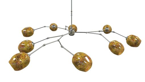 Custom Made Salamander Staccato Chandelier With Nickel Hardware