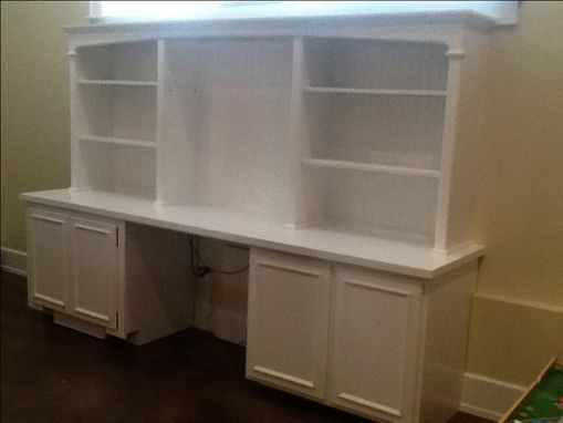 Custom Made Matching Entertainment Center & Office Workstation