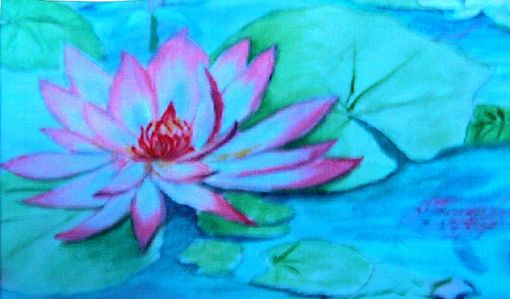 Custom Made Original Acrylic Water Lilly