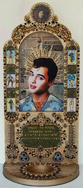 Custom Made St. Salvatore, Mixed Media Decorative Icon