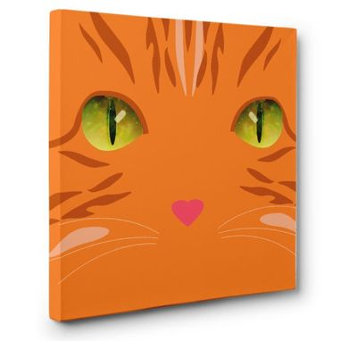 Custom Made Ginger Cat Canvas Wall Art