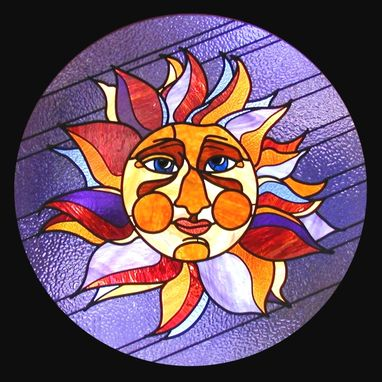 Custom Made Sunface Stained Glass Gift