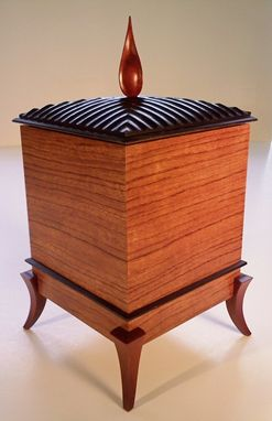Custom Made Bubinga, Wenge, And Bloodwood Specitalty Box / Urn