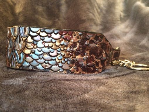 Custom Made Dragon Scale Leather Dog Collar
