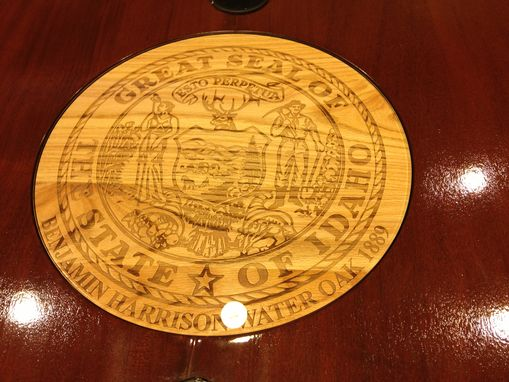 Custom Made Idaho State Capital Conference Table
