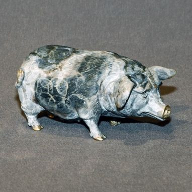 Custom Made Bronze Pig Figurine Statue Sculpture Swine Art Limited Edition Signed Numbered