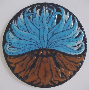 Custom Made Nouveau Lily - Glass Fusing Artwork