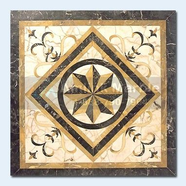 Custom Made Waterjet Floor Medallion Amlink Marble Amd-708