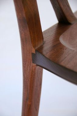 "Custom Made ""A"" Frame Chair In Walnut"
