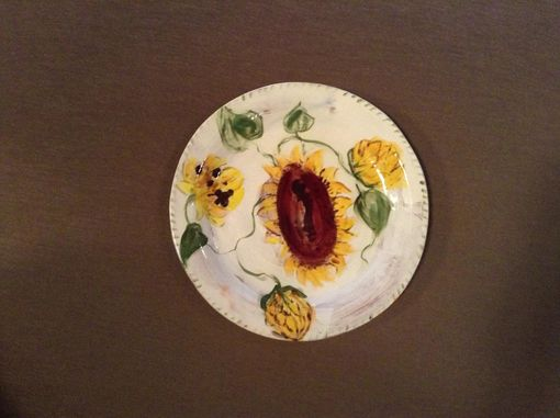 Custom Made Sunflower Platter