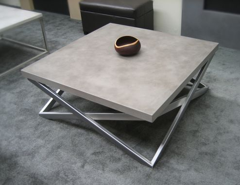 Custom Made Mobius Concrete Coffee Table