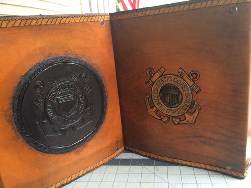 Custom Made Coast Guard Chief Leather Charge Book
