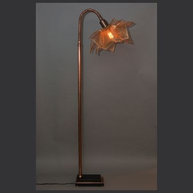Custom Made Blooming Gooseneck Floor Lamp