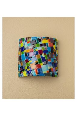 Custom Made Mosaic Glass Wall Sconce