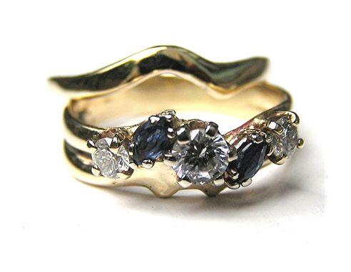 Custom Made Custom Handmade To Fit Curved 14k Gold Wedding Ring Band