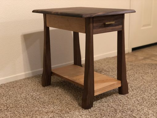 Custom Made Asymmetrical Leg End Table
