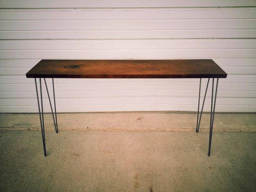 Custom Made Ash Stained Rustic Console Table