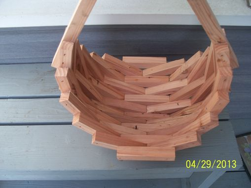 Custom Made Redwood Basket