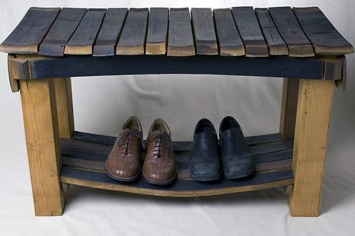 Custom Made Napa Wine Barrel Bench