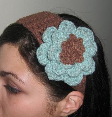 Custom Made Chic Crocheted Flower Headband, You Choose The Color