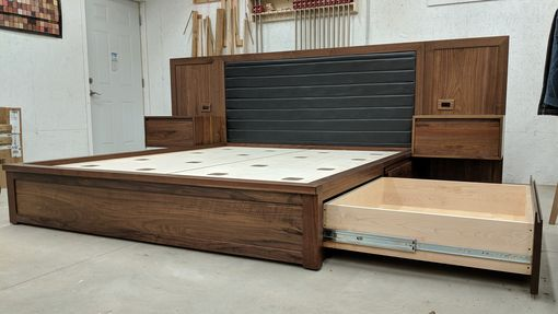 Custom Made California King Platform Bed With Storage Galore