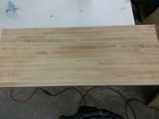 Custom Made Maple Butcher Block Top Table
