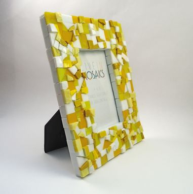 Custom Made 4x6 Yellow Mosaic Picture Frame
